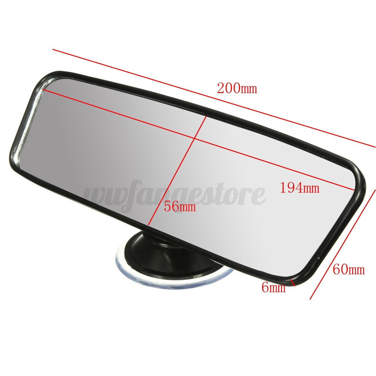 car truck universal interior rear view driving mirror learner suction stick on ebay. Black Bedroom Furniture Sets. Home Design Ideas