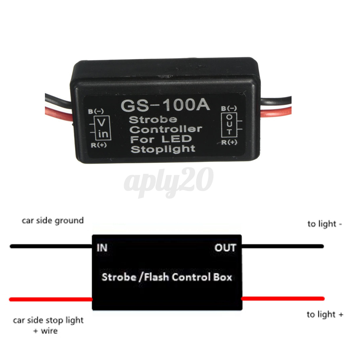 GS-100A Car Truck LED Brake Stop Light Flash Strobe Controller ...