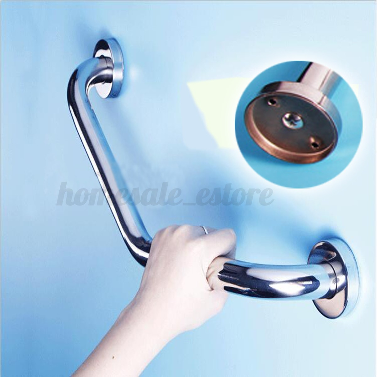 Bathroom Shower Knobs: New Stainless Steel Bathtub Arm Safety Handle Grip Bath