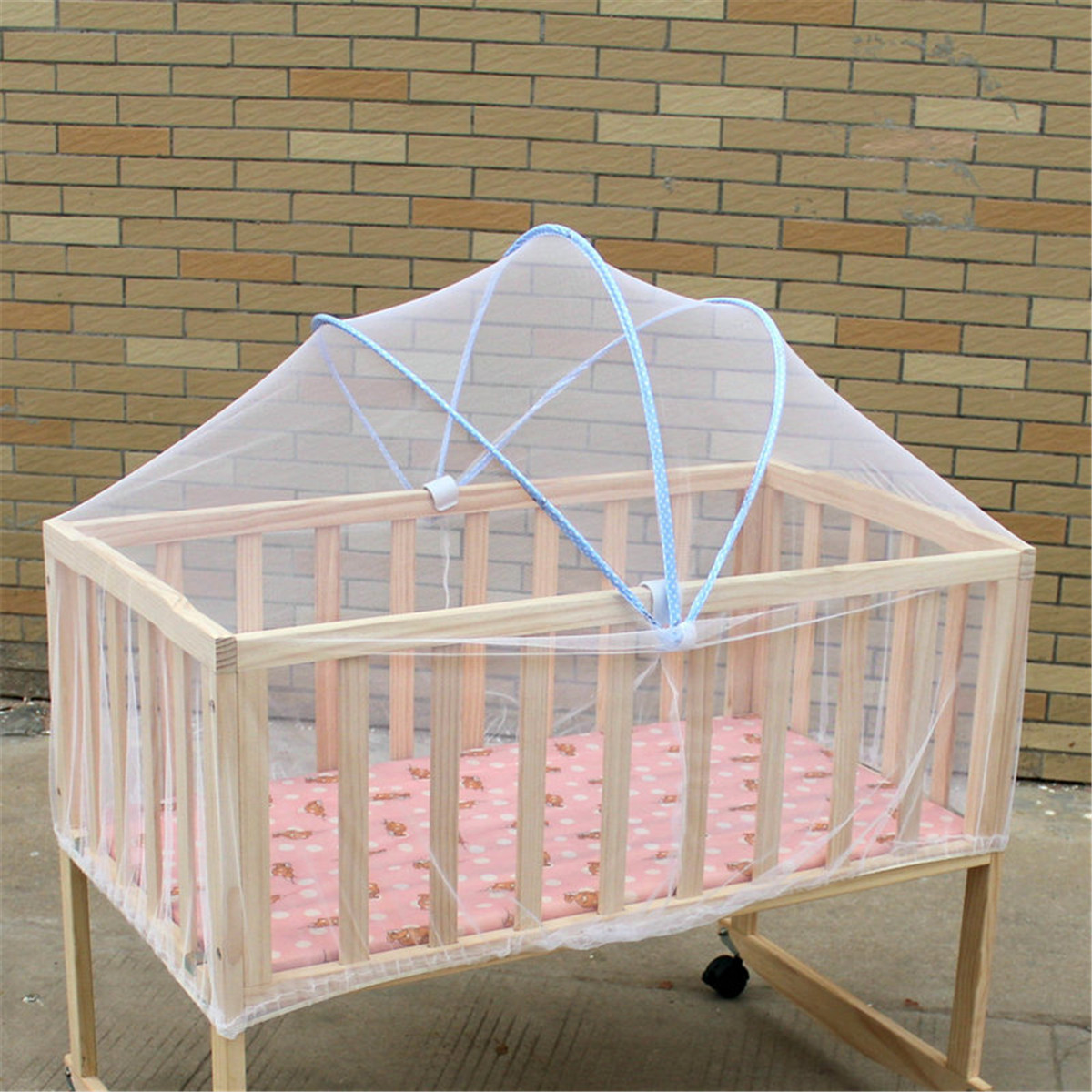 Baby Crib Cot Bed Cradle Mesh Mosquito Net Arched Tent Infant