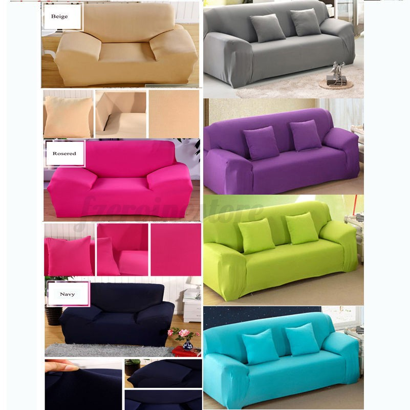 New Slipcover Stretch Sofa Cover Sofa With Loveseat Chair: 1/2/3 Seater Chair Loveseat Sofa Couch Slipcover Stretch