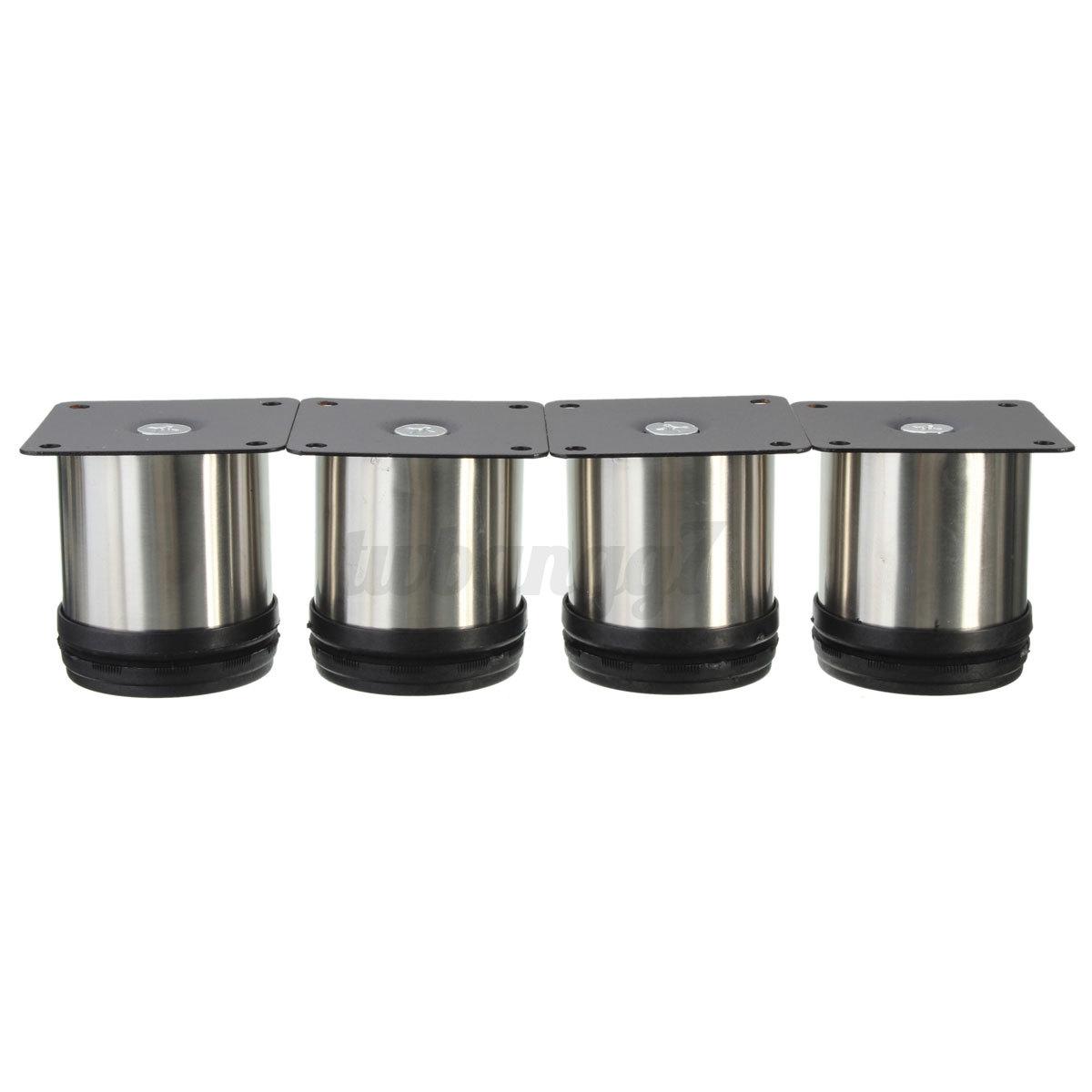 4x adjustable cabinet plinth legs stainless steel kitchen - Kitchen cabinet feet ...