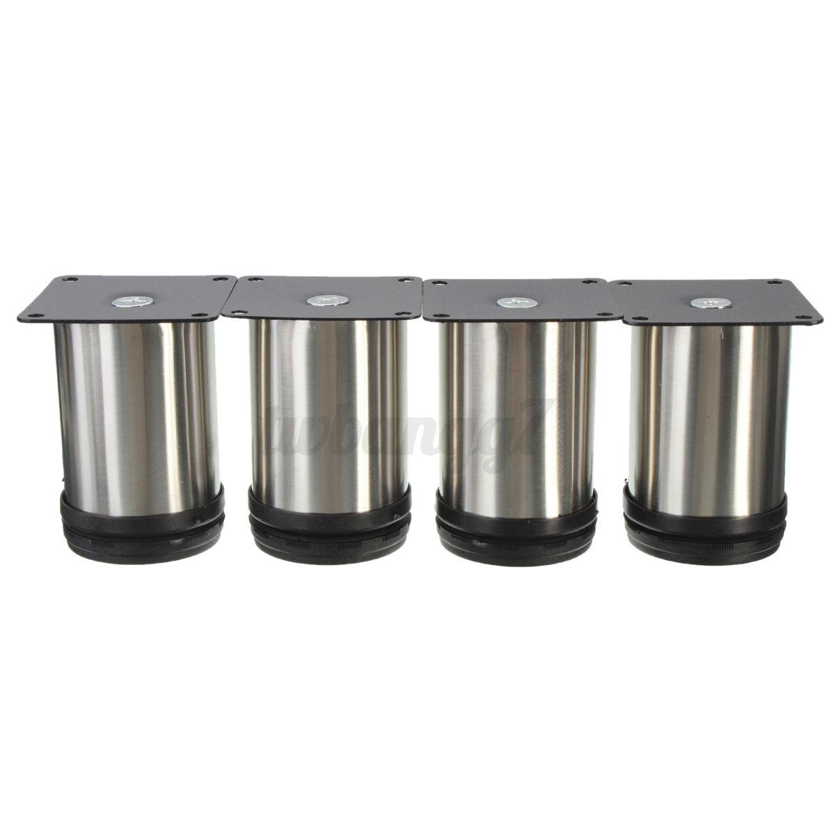 Kitchen Cabinet Feet 4x Adjustable Cabinet Plinth Legs Stainless Steel Kitchen