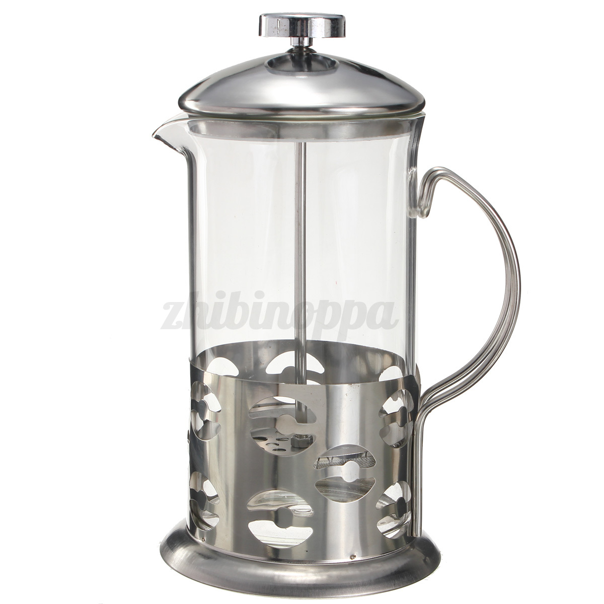 stainless steel glass cafetiere french filter coffee tea kettle press plunger ebay. Black Bedroom Furniture Sets. Home Design Ideas