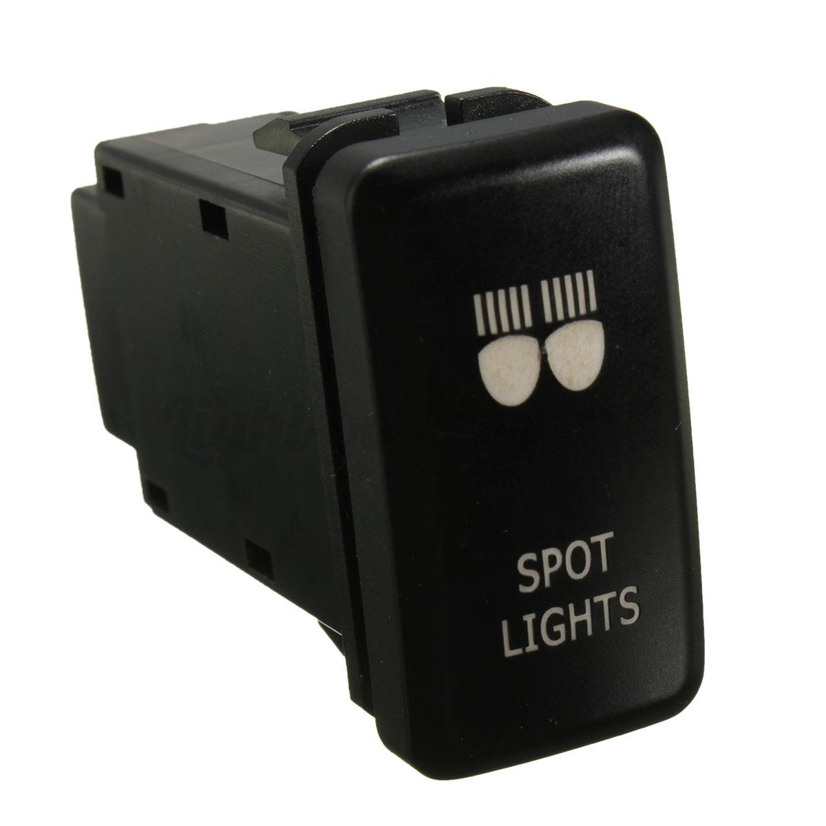 12v push green led spot light switch for toyota