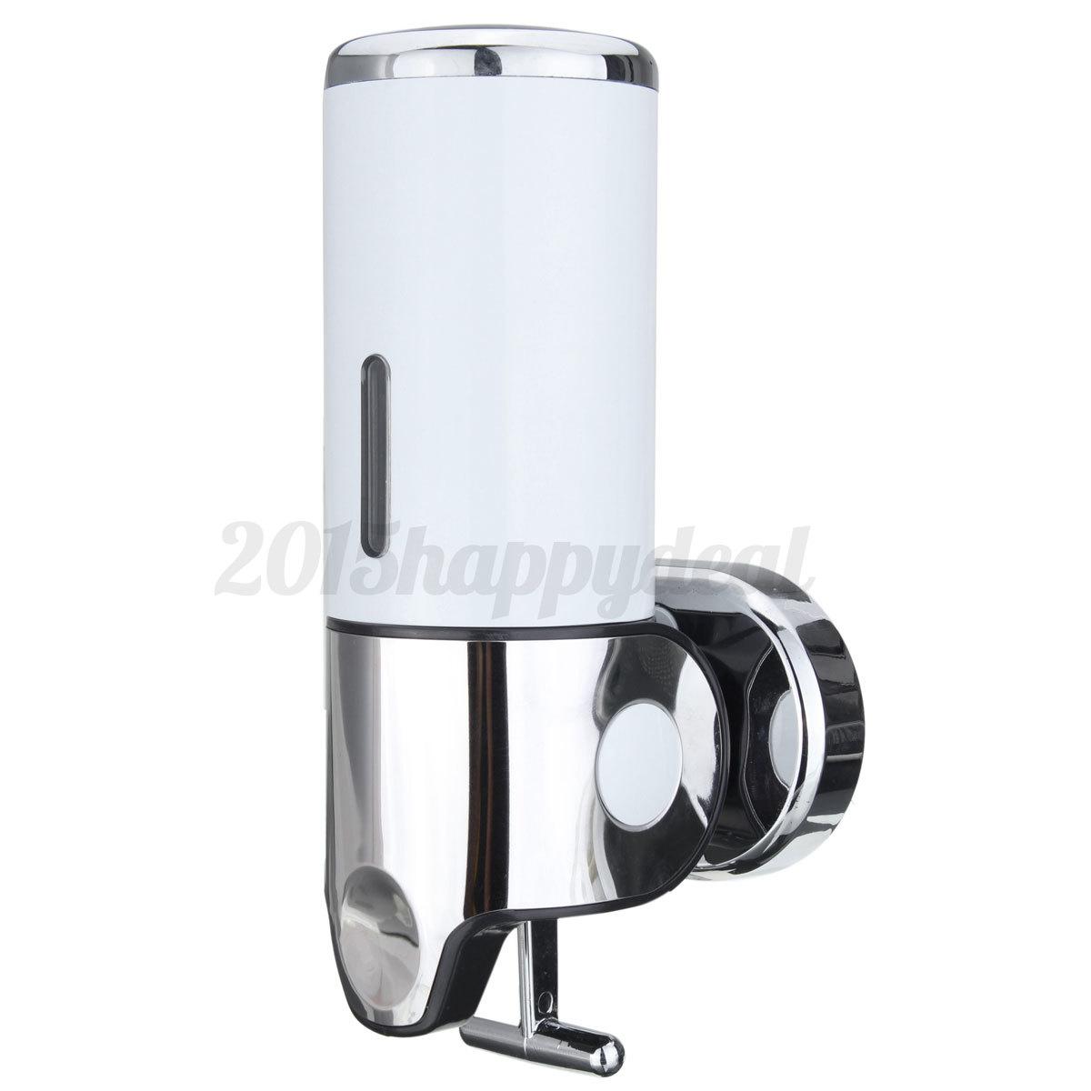 500ml seifenspender dosierer shampoo nachf llbar wand spender bohren edelstahl. Black Bedroom Furniture Sets. Home Design Ideas