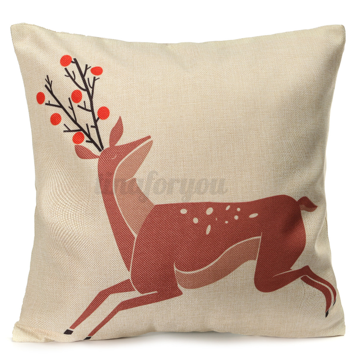 XMAS Christmas Cushion Cover Ambience Decorative Square Pillow Case Car Decor eBay