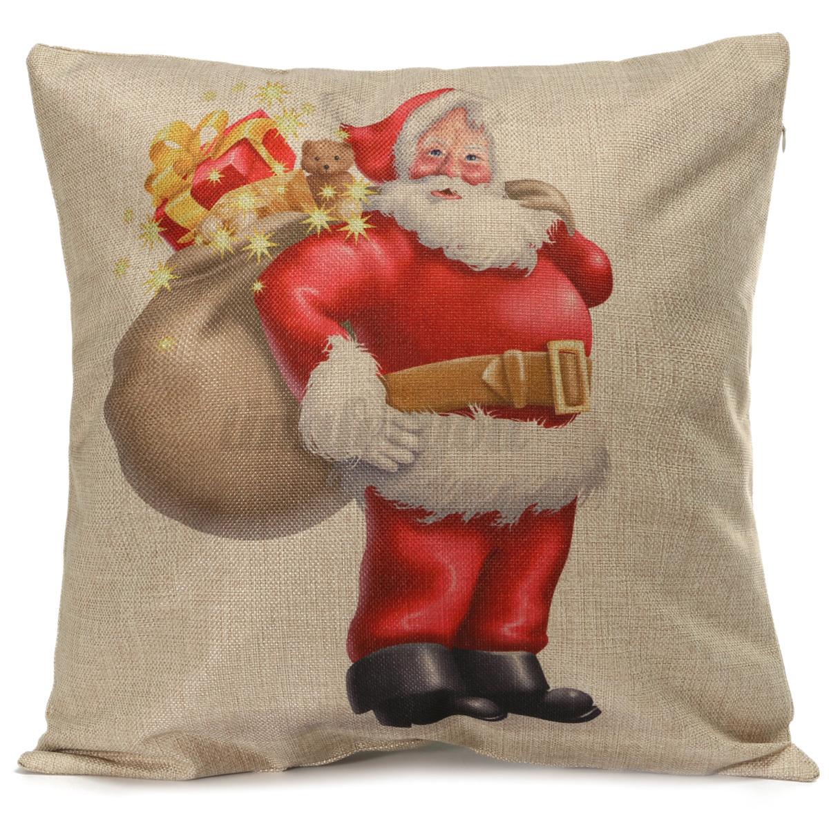 XMAS Christmas Cushion Cover Ambience Decorative Square Pillow Case Car Decor eBay