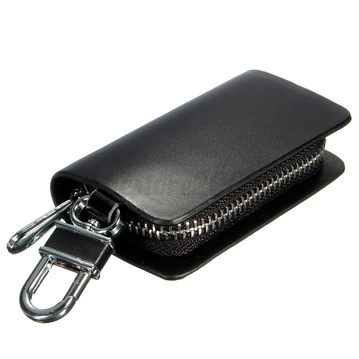 Leather Car Key Holder KeyChain Wallet Case Pouch Purse