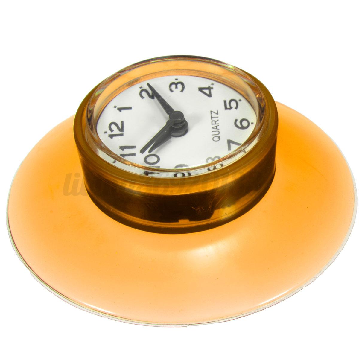 Horloge tanche miroir salle bains cuisine for Aspiration salle de bain