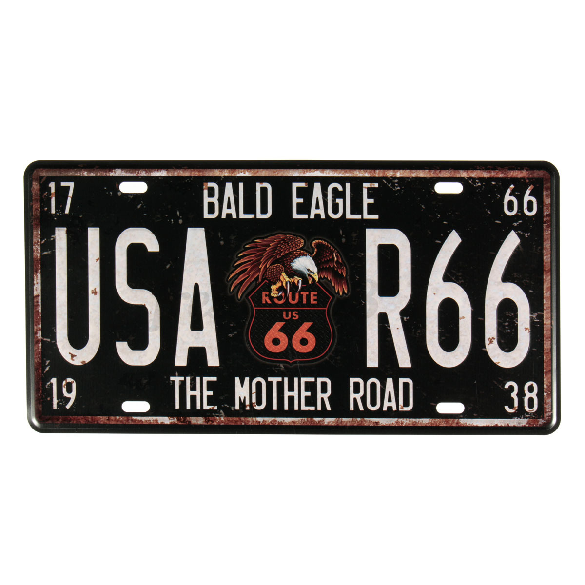 Well known USA Route 66 Wall Hanging License Plate Vintage metal sign Home  YC79