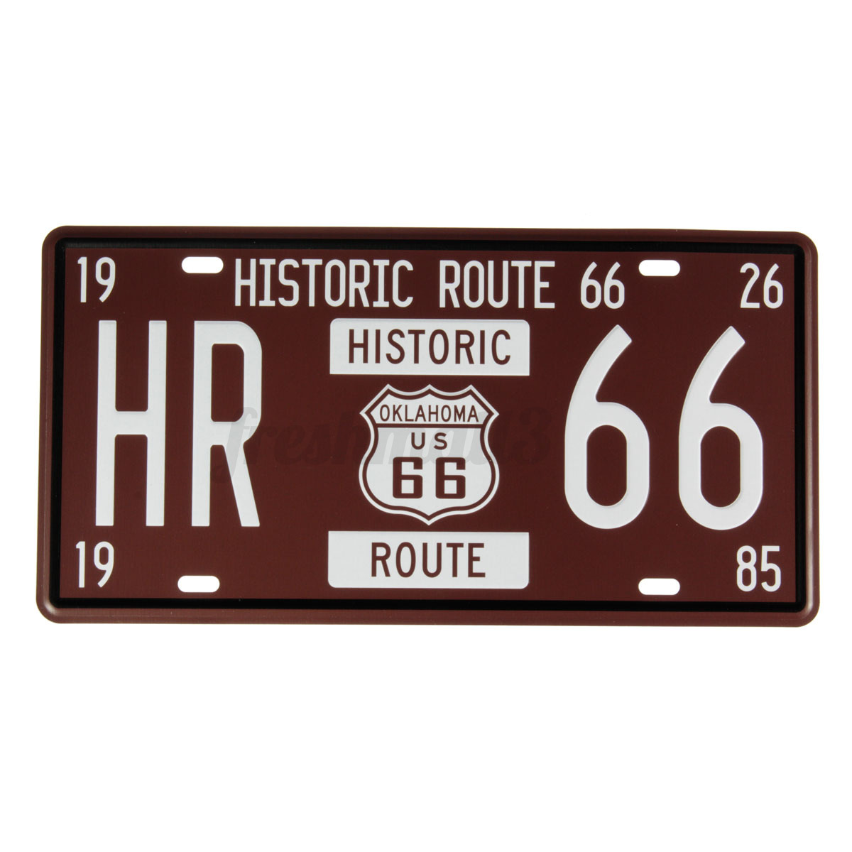 Usa Route 66 Wall Hanging License Plate Vintage Metal Sign Home Bar