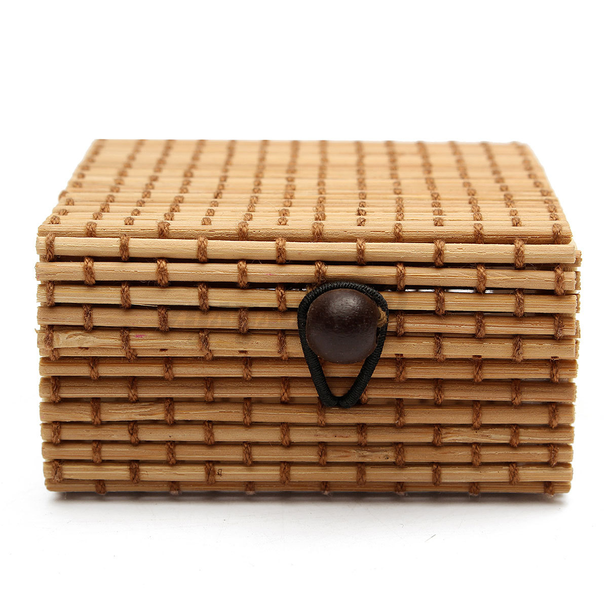 Ring necklace earrings bamboo case jewelry storage box for Ring case