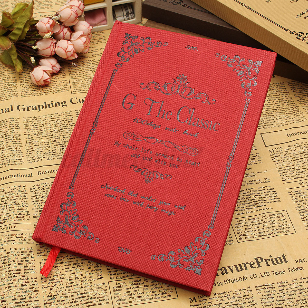 Retro Vintage Classic Notebook Blank Diary Note Book Journal Writer ...