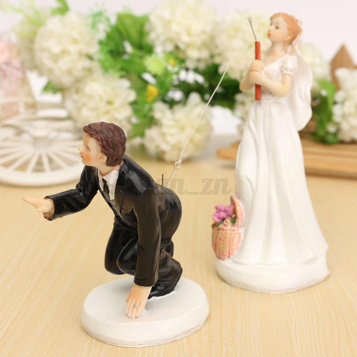 Bride Wedding Cake Topper: Romantic Bride & Groom Figure Wedding Cake Toppers Couple