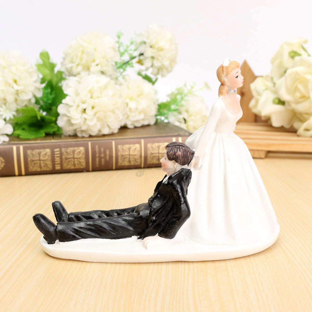 Romantic Bride & Groom Figure Wedding Cake Toppers Couple Bridal ...