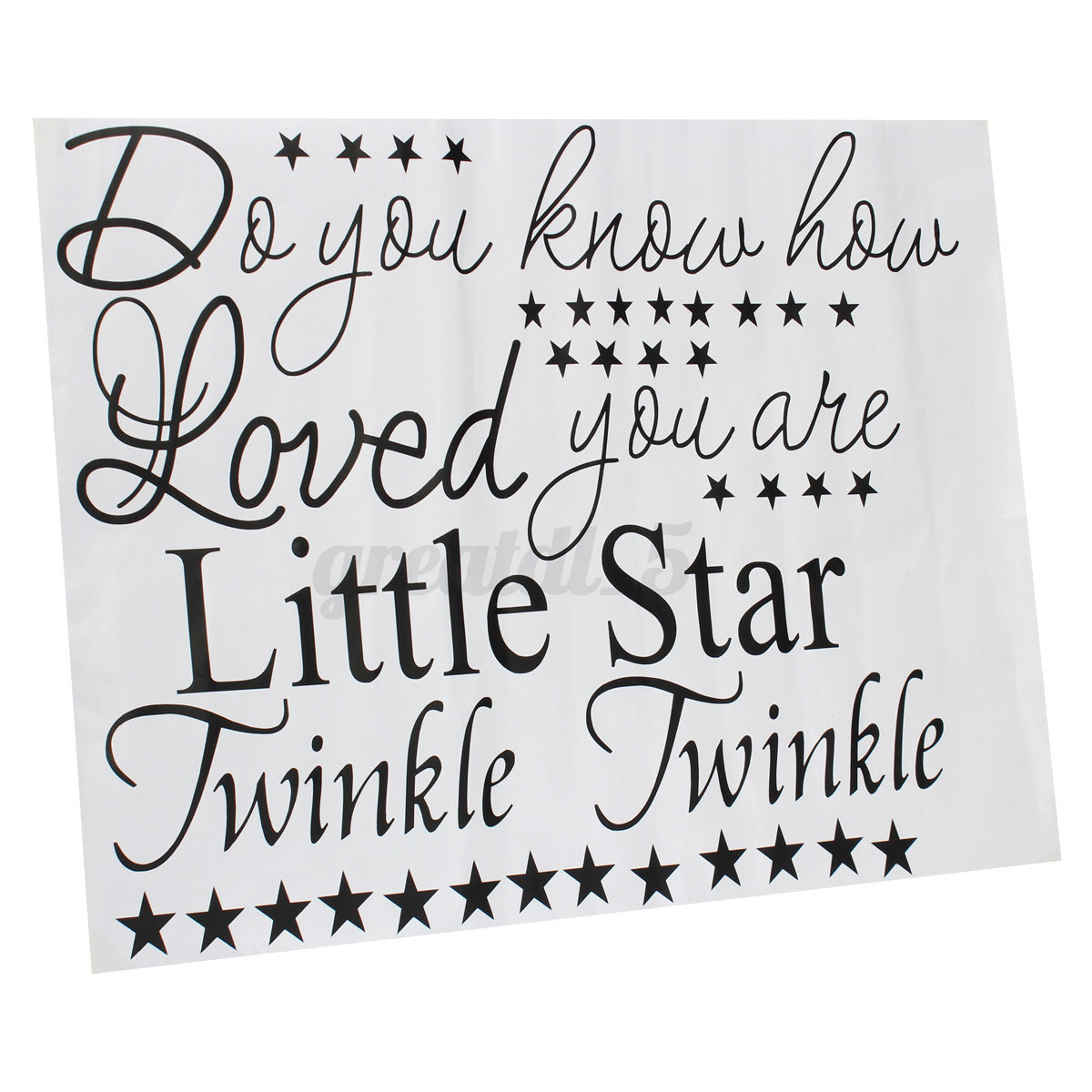Little star sticker wall quote art decals removable words mural ebay