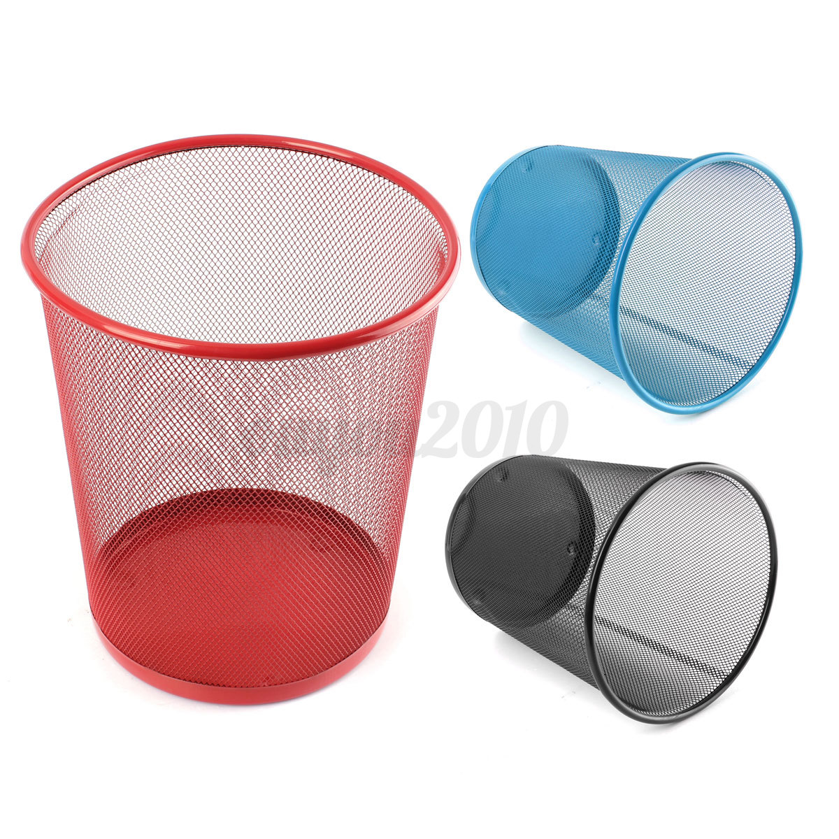 Durable Metal Mesh Trash Can Dustbin Garbage Bin Hotel Home