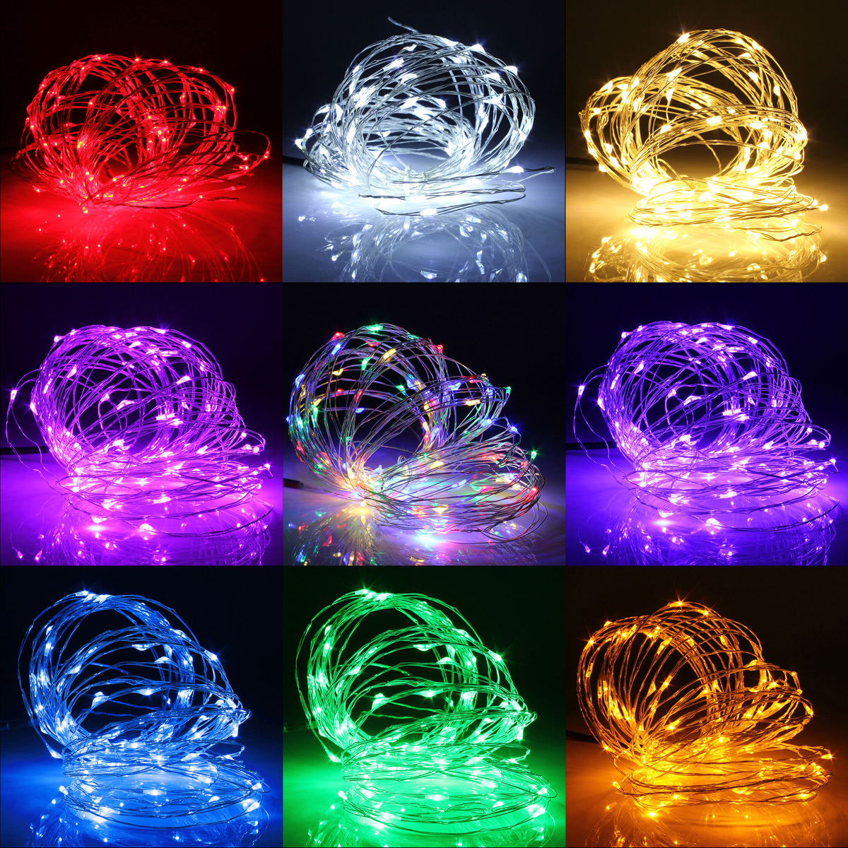 String Lights Clearance : 5/10X 5M 12V LED Silver Copper Wire Fairy String Light Xmas Party Clearance Sale eBay