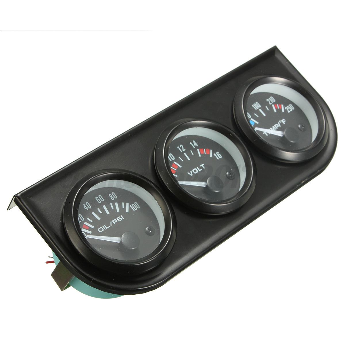 Electronic Voltmeter Gauges Oil And Water : Mm oil pressure volt water temp amp electronic