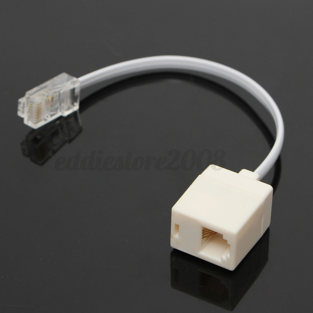 rj11 6p4c female to ethernet rj45 8p8c male f/m adapter ... rj45 phone wiring rj11 phone wiring diagram