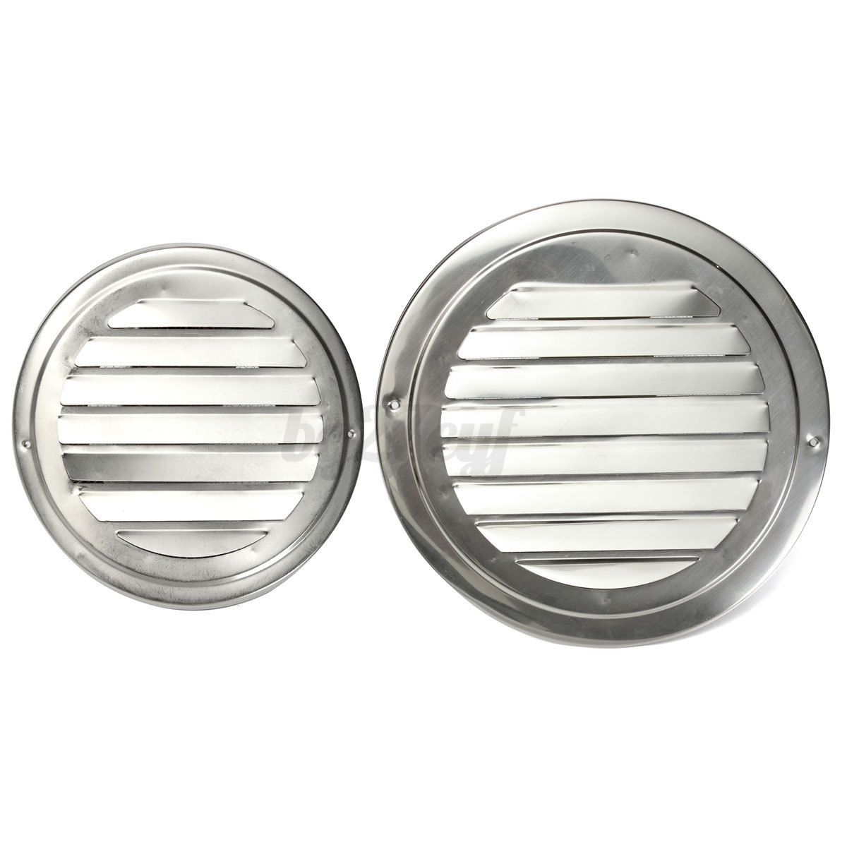 Stainless Steel Air Grille : Stainless steel silver circular air vent grille cover wall