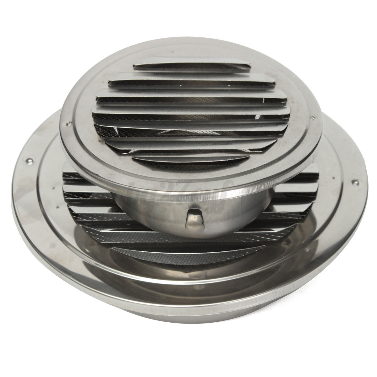 Stainless Steel Silver Circular Air Vent Grille Cover Wall