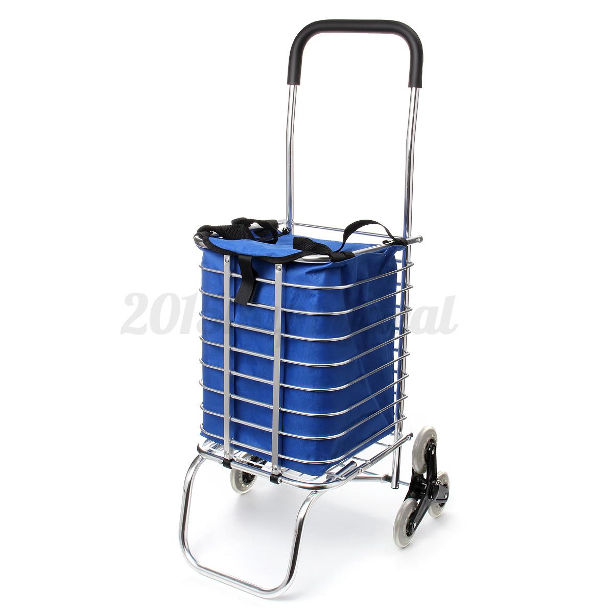 6 wheels folding foldable portable stair shopping cart