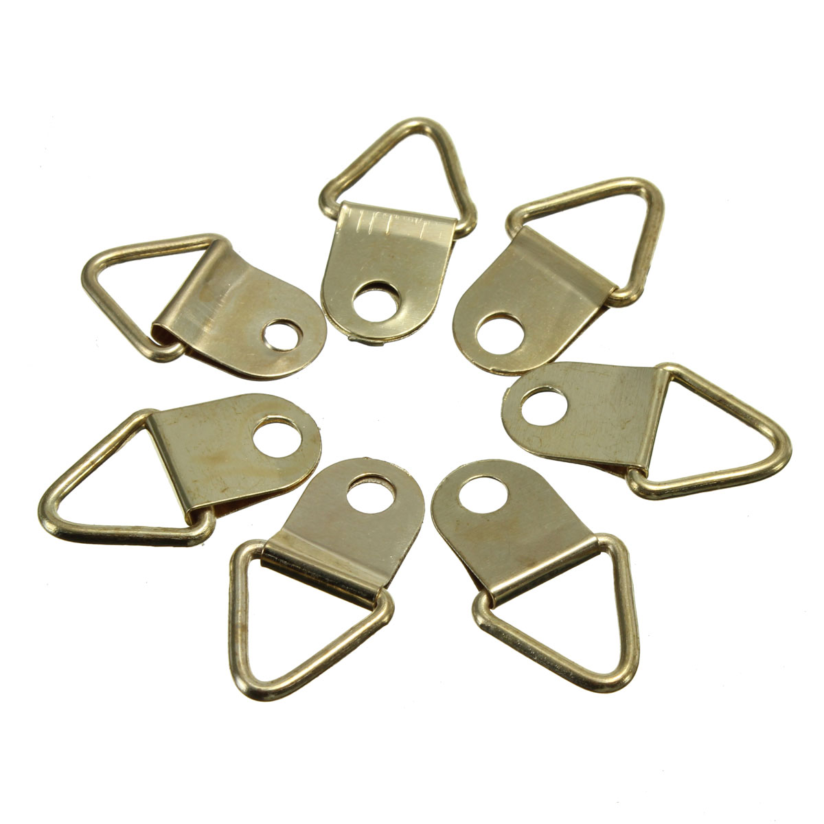 50x Gold Picture Photo Frame Hanging Triangle D Ring Strap Hangers ...