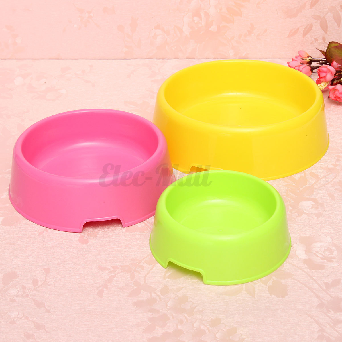 pet dog cat puppy plastic food feeding water dish bowl feeder container cute ebay. Black Bedroom Furniture Sets. Home Design Ideas