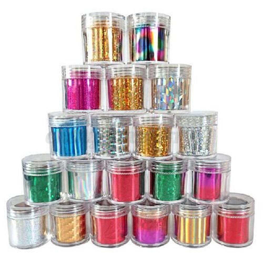 12-Roll-Starry-Sky-Nail-Art-Foil-Transfer-Gradient-Glitter-Sticker-Decal-Polish