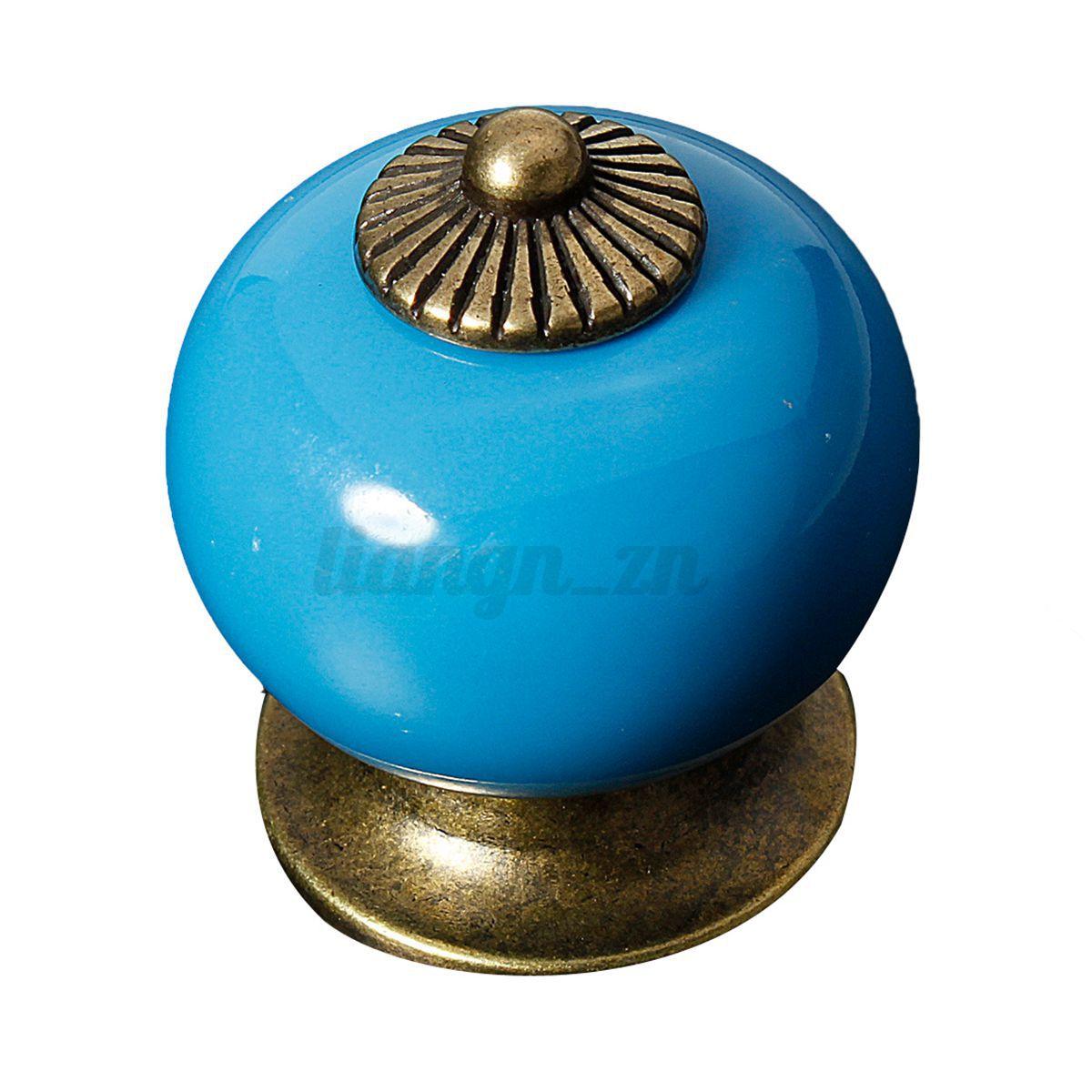 poign e de porte ceramique bouton tiroir meuble armoire placard knob 38mm ebay. Black Bedroom Furniture Sets. Home Design Ideas
