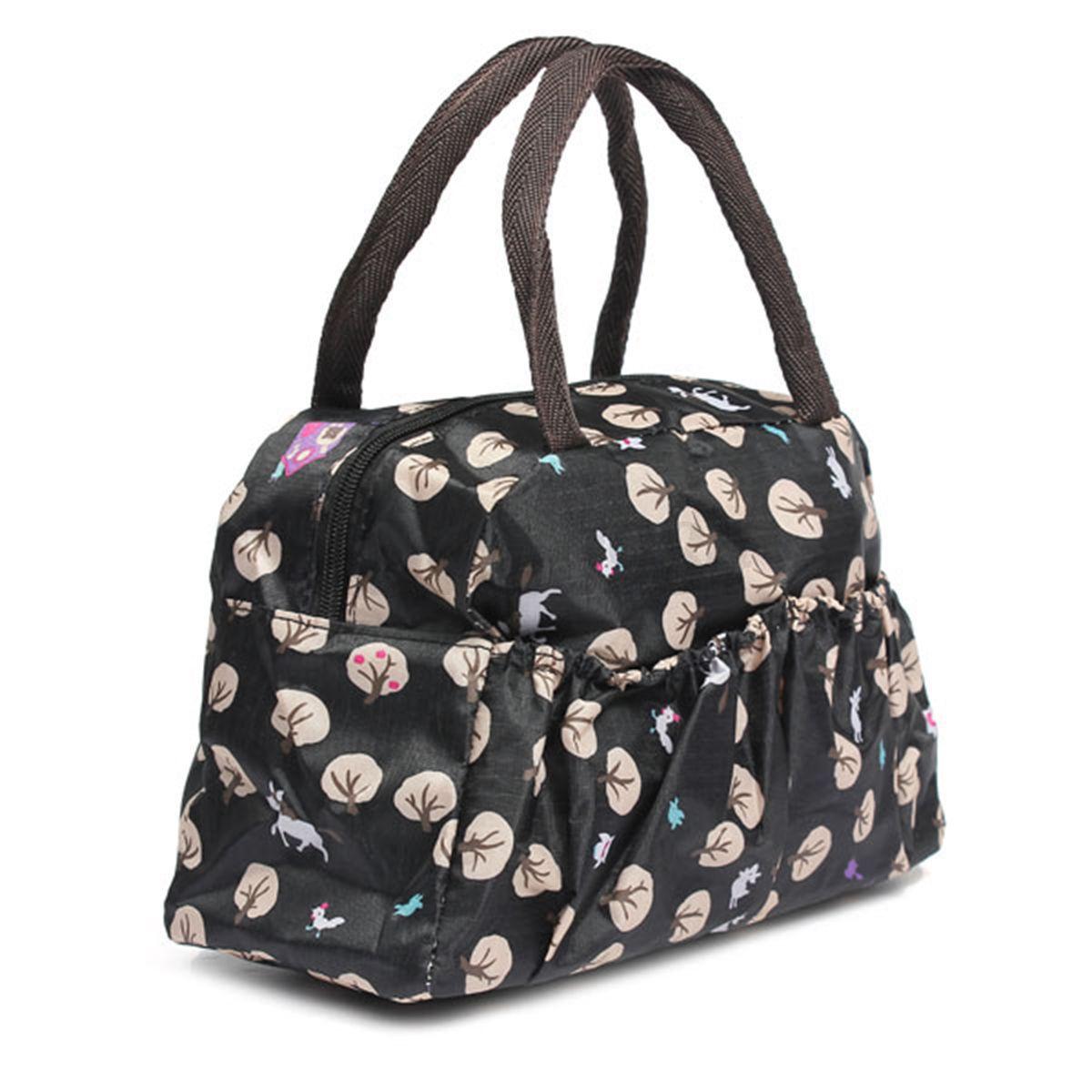 Women Outdoor Travel Lunch Bag Casual Handbag Picnic