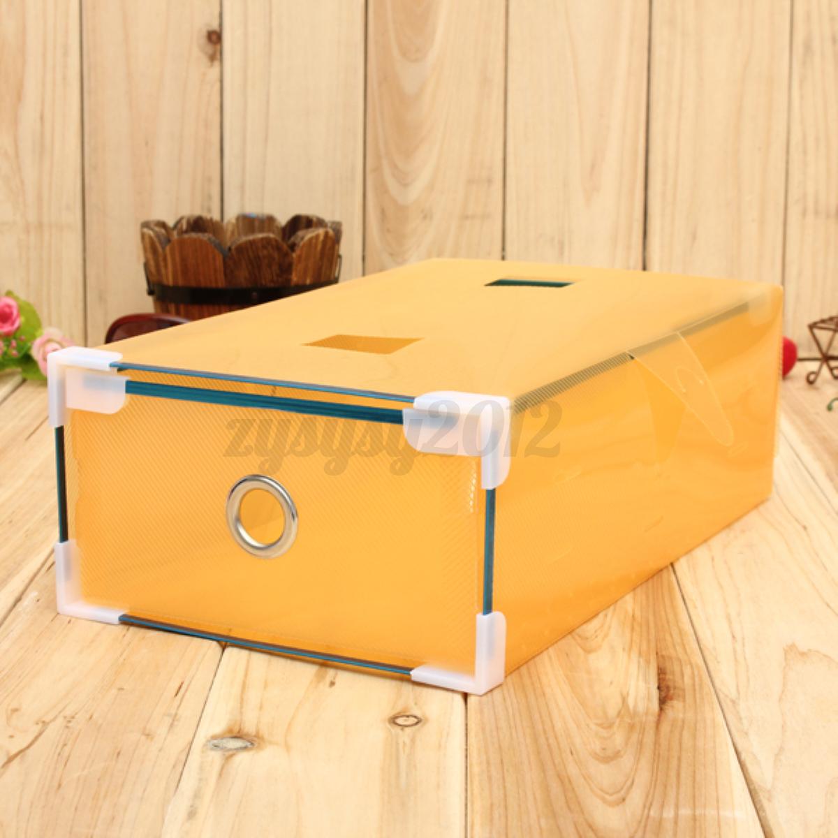 Scatole Porta Scarpe Plastica Trasparente Case Box Contenitori Organizer