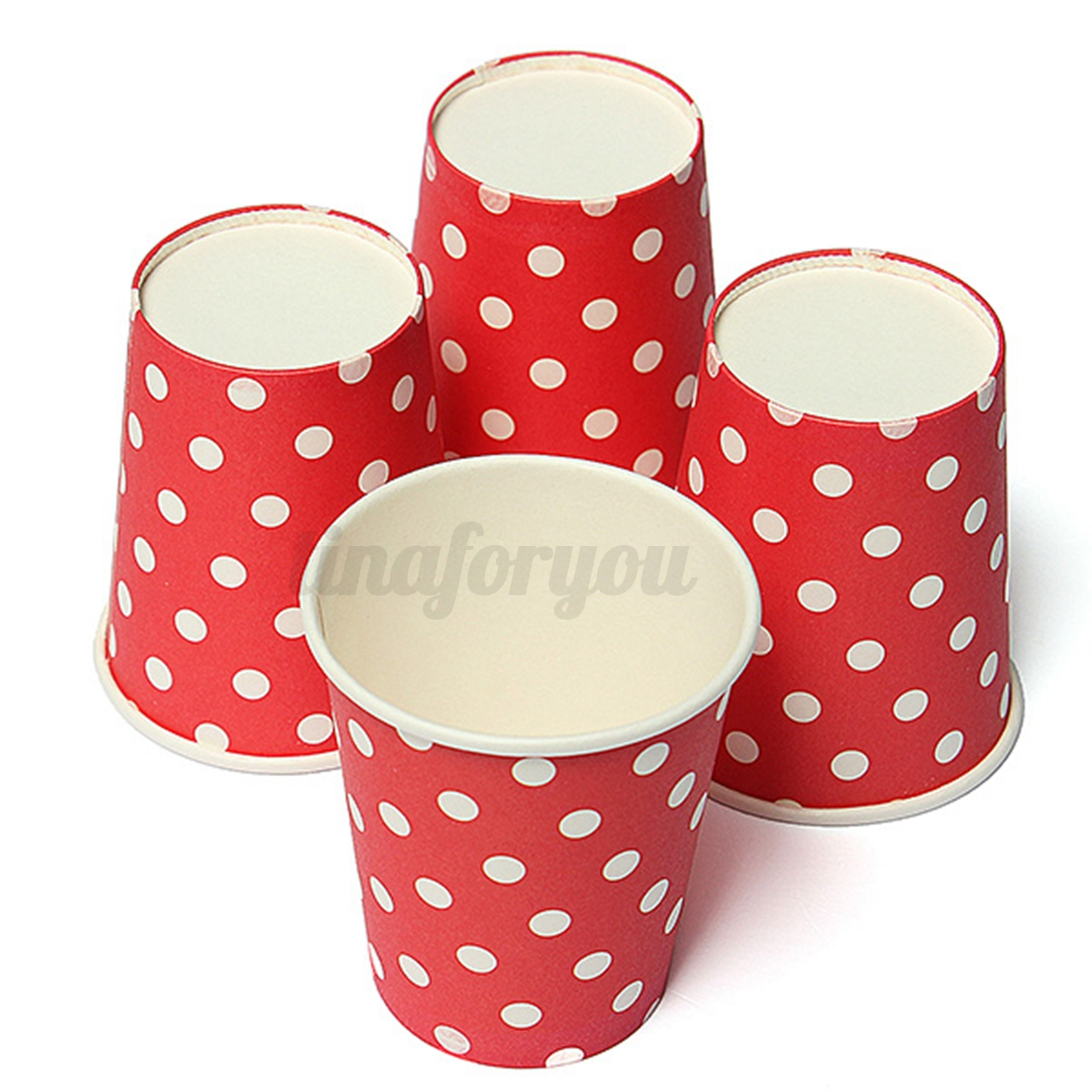 50x christmas xmas polka dot disposable hot cold paper cup for Polka dot decorations for bedrooms
