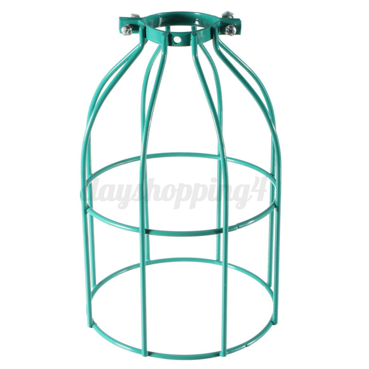 vintage industriel r tro m tal loft abat jour cage plafond ampoule lampe lustre ebay. Black Bedroom Furniture Sets. Home Design Ideas