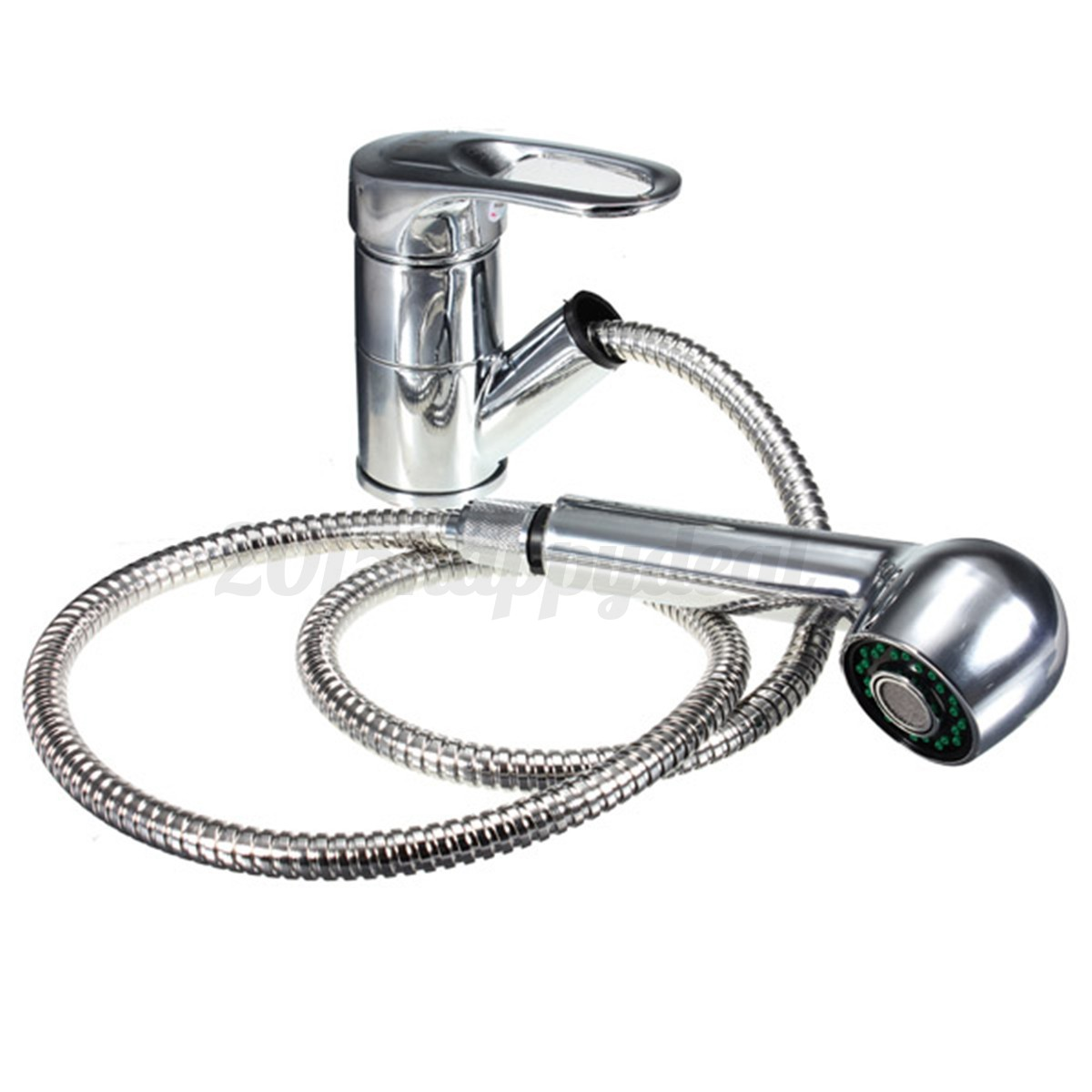 Bathroom sink faucet one hole double handle basin mixer tap ebay - Tapcet Sink Lever Mixer Tap Kitchen Pull Out