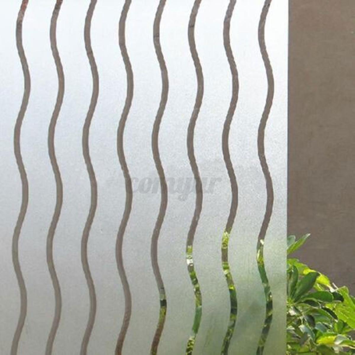 Decorative Wavy Window Glass Film Vinyl Privacy Home Door