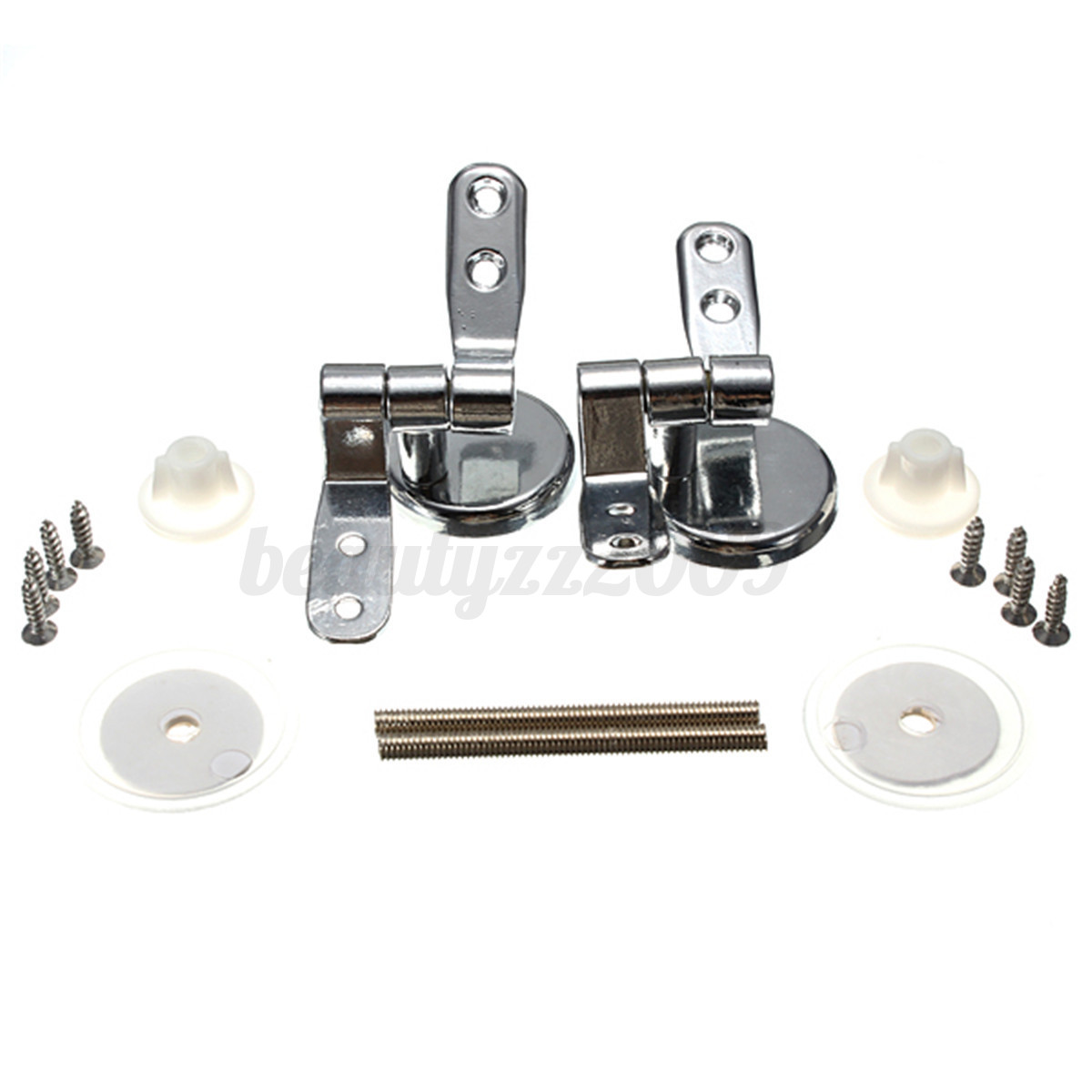 A Pair Replacement Closestool Toilet Seat Mountings Chrome