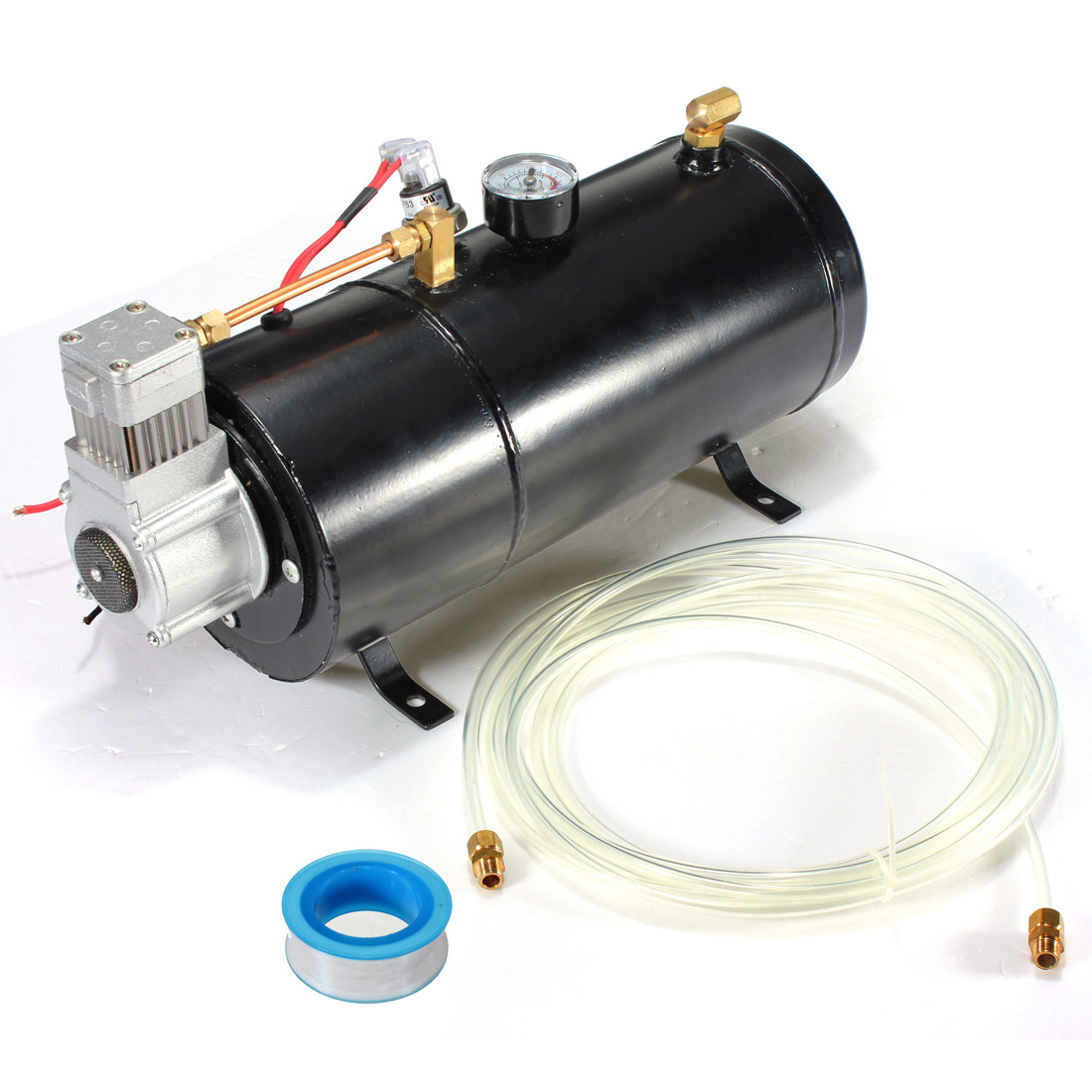 120 PSI 12V Air Horn Compressor Tank Pump Train Auto Car Truck Boat Air Horn Compressor V on 12v air conditioners for vehicles, rubber hose for compressor, gas compressor, 12v dc air conditioner, 12v air pump, refrigerator compressor, 12v motor, 12v air conditioning system,