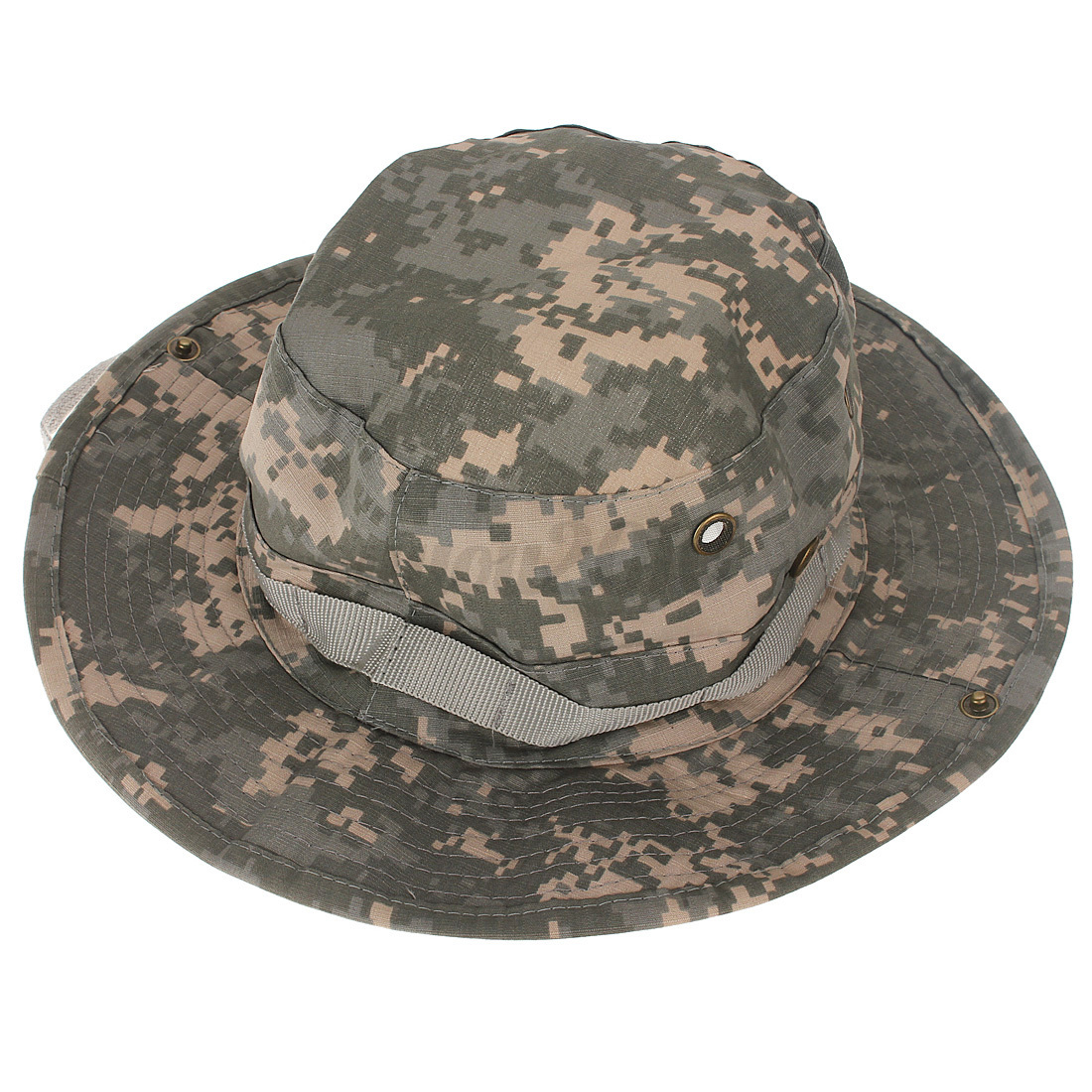 New combat camo hat cap ripstop military army boonie bush for Camo fishing hat