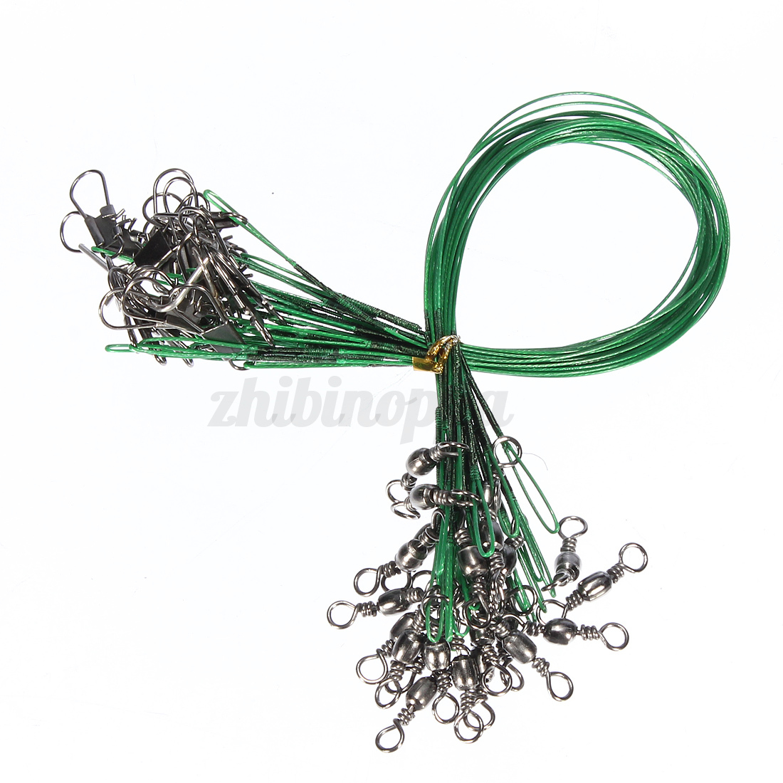 72x-Fishing-Lures-Leader-Stainless-Wire-Trace-Set-Spinning-Pike-Line-16-23-31cm thumbnail 8