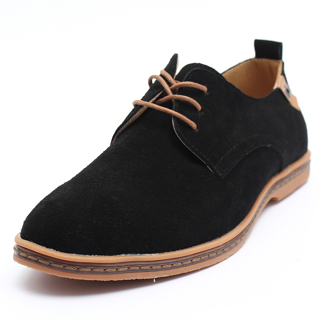 Men Suede Leather Shoes Menu0026#39;s Dress Formal Oxfords Lace Up Casual Flats Loafers | EBay