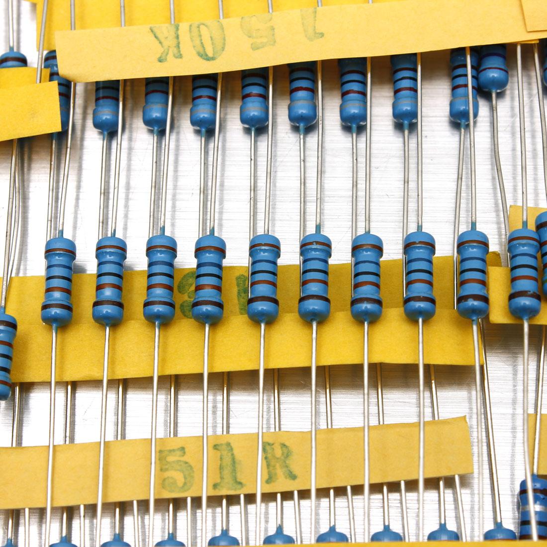 1000Pcs-50-Values-1-2W-0-5W-1-Metal-Film-Resistors-Kit-Assortment-Mix thumbnail 4