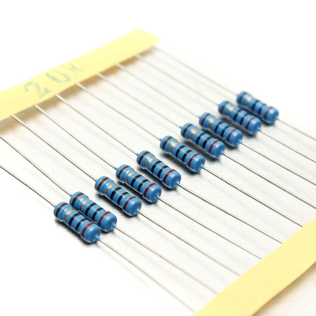 1000Pcs-50-Values-1-2W-0-5W-1-Metal-Film-Resistors-Kit-Assortment-Mix thumbnail 2