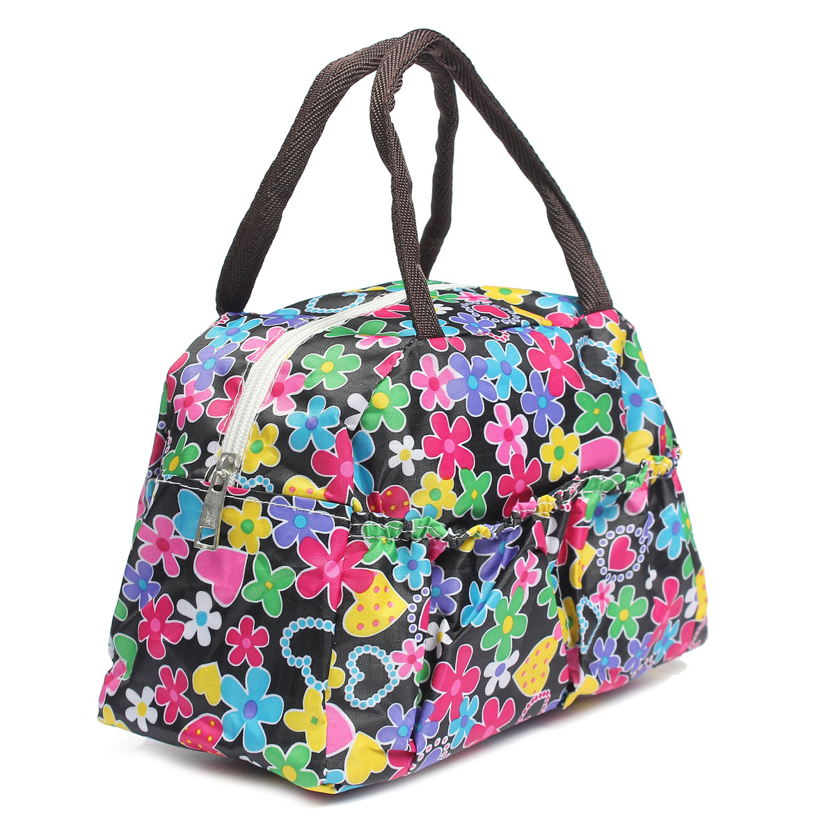 Portable-Bento-Lunch-Box-Bag-Insulated-Thermal-Waterproof-Picnic-Carry-Tote thumbnail 8