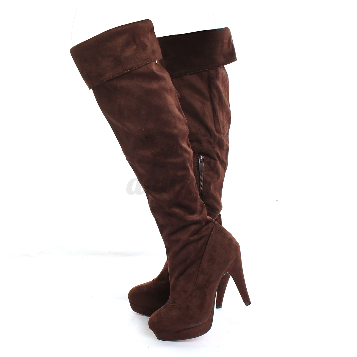 Women-Ladies-Over-The-Knee-Boots-Stilettos-High-Heels-Thigh-Slouch-Suede-Shoes