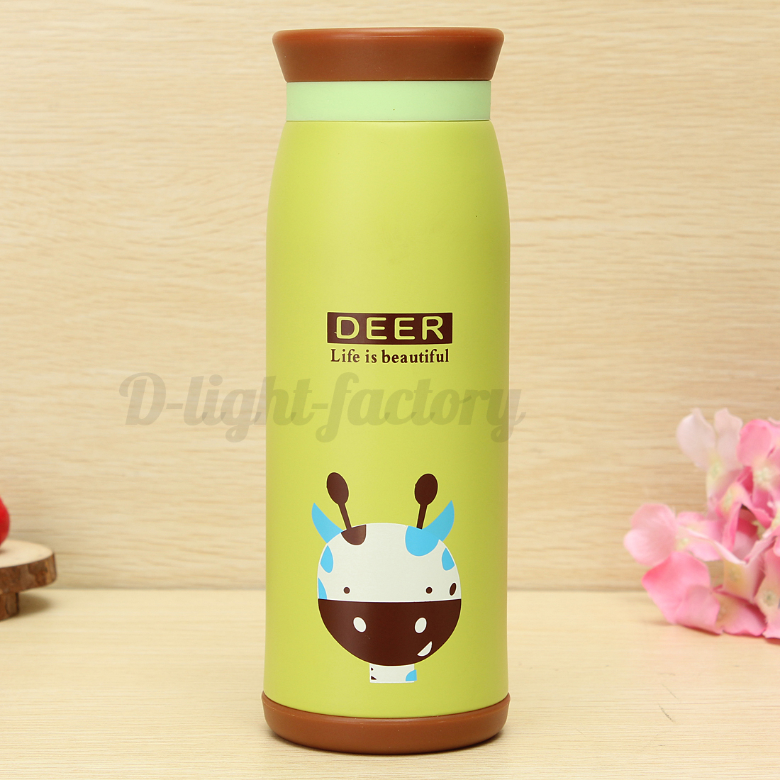 500 ml acier inoxydable vide bouteille thermos mug tasse caf cadeau de no l art ebay. Black Bedroom Furniture Sets. Home Design Ideas