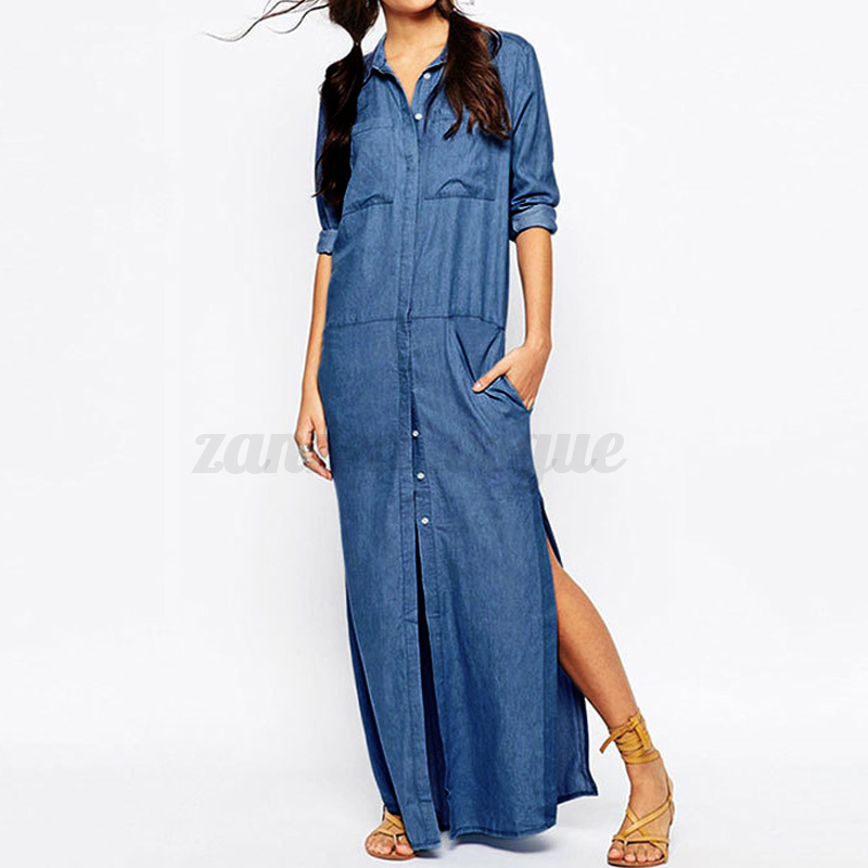 ZANZEA-AU8-24-Women-Summer-Jeans-Blue-Sexy-Split-Plus-Size-Long-Maxi-Denim-Dress