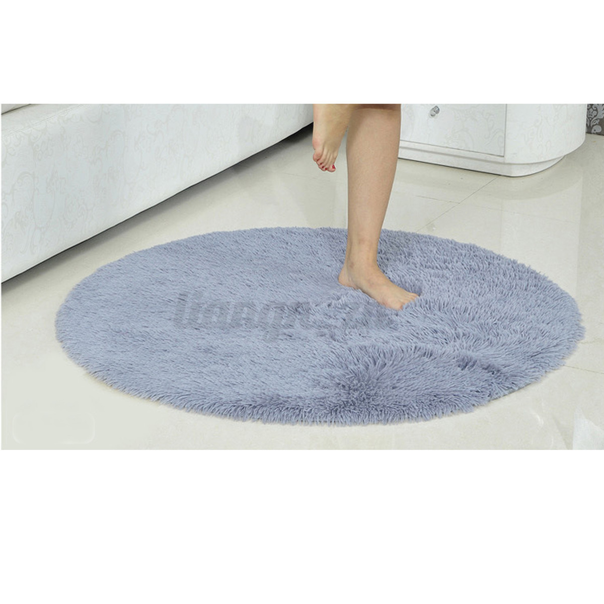 rond tapis salle de bain chambre peluche antid rapant mat absorbant yoga 40cm ebay. Black Bedroom Furniture Sets. Home Design Ideas